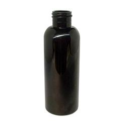 Black Boston Plastic PET Bottle - 125ml
